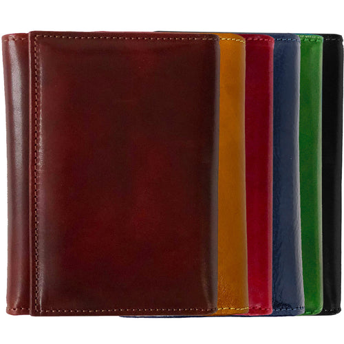 Leather Tri-fold Clutch Wallet Floto Venezia