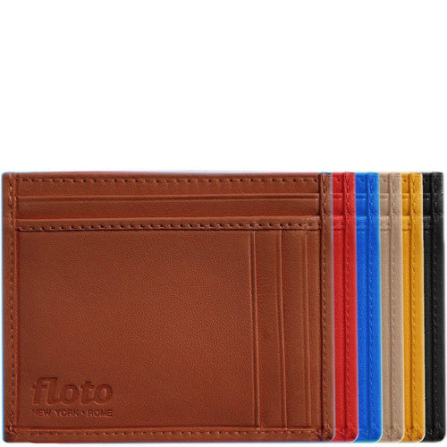 Italian Lambskin Nappa Leather Card Wallet Floto Firenze