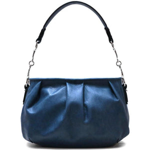 leather hobo satchel shoulder bag floto blue