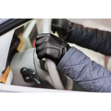 Load image into Gallery viewer, Floto men's cashmere lined black leather gloves