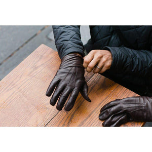Floto Men's Brown Leather Gloves
