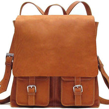 Load image into Gallery viewer, Floto Italian Leather Backpack Forum Bag brown