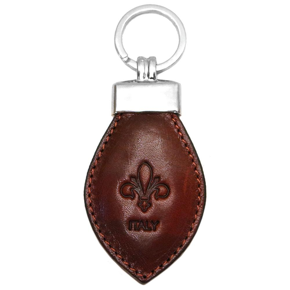 Floto Leather Italy Keychain brown