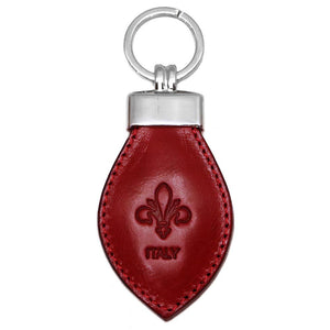 Floto Leather Italy Keychain red