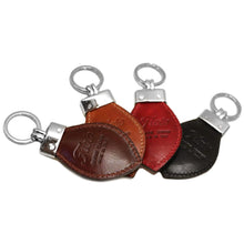 Load image into Gallery viewer, Floto Leather Italy Keychain back