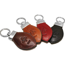 Load image into Gallery viewer, Floto Leather Italy Keychain front