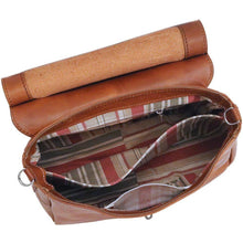 Load image into Gallery viewer, Floto Leather Bamboo Handle Saddle Bag