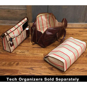 leather duffle bag floto venezia tech pack organizer