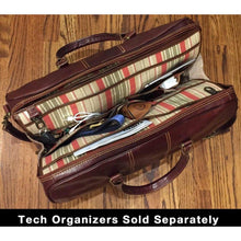 Load image into Gallery viewer, leather duffle bag floto venezia tech pack organizer
