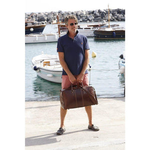 Floto Leather Trunk Duffle Bag