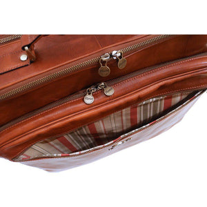 leather rolling mobile luggage briefcase trolley bag floto floto