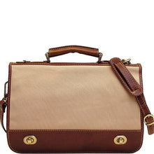 Load image into Gallery viewer, Floto Italian canvas and leather Roma messegner bag