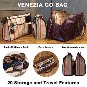 leather duffle bag floto venezia go bag