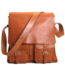 Load image into Gallery viewer, Floto Italian Forum leather messenger bag men's tote