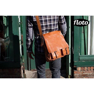 Floto Italian Forum leather messenger bag men's tote 7