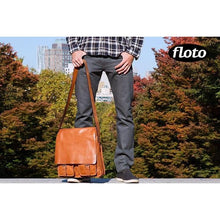 Load image into Gallery viewer, Floto Italian Forum leather messenger bag men's tote 6