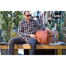 Load image into Gallery viewer, Floto Italian Forum leather messenger bag men's tote 8