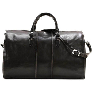 leather garment duffle bag Floto Venezia black