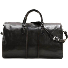 Load image into Gallery viewer, Floto Italian Leather Garment Duffle Bag Suitcase black