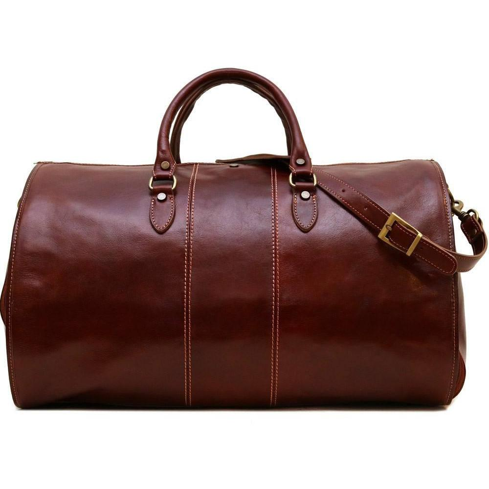 Floto Italian Leather Garment Duffle Bag Suitcase brown 2