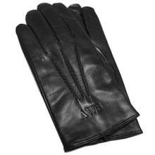 Load image into Gallery viewer, Men's Italian Leather Glove Black Floto monogram