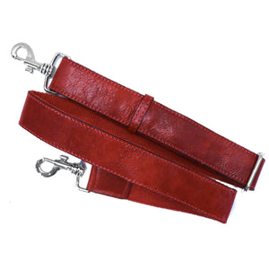 Floto Leather Guitar Strap tuscan red