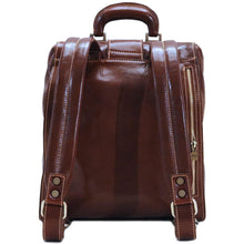 Load image into Gallery viewer, Floto Ciabatta doctor style gladstone backpack back view