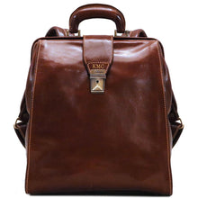 Load image into Gallery viewer, Monogram Floto Ciabatta doctor style gladstone backpack front