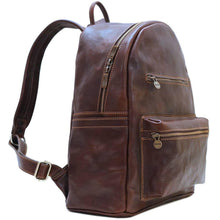 Load image into Gallery viewer, leather backpack floto cortona brown