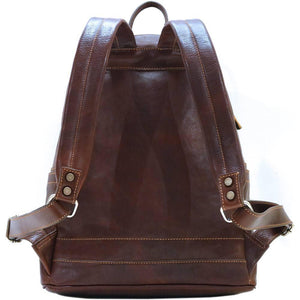 leather backpack floto cortona brown