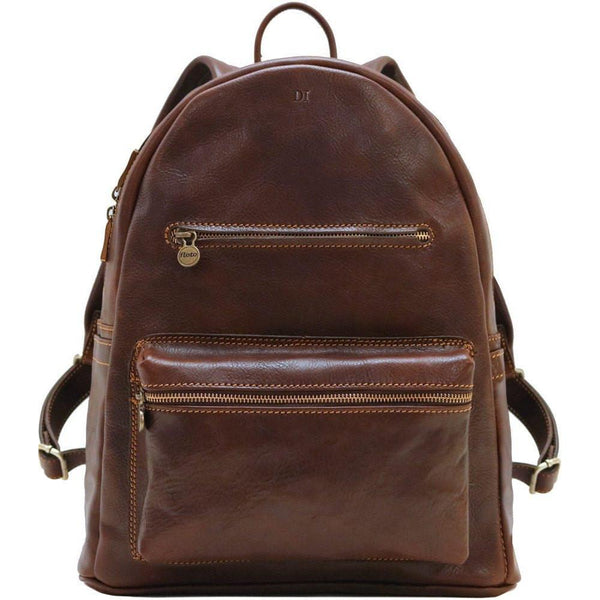 leather backpack floto corona brown monogram