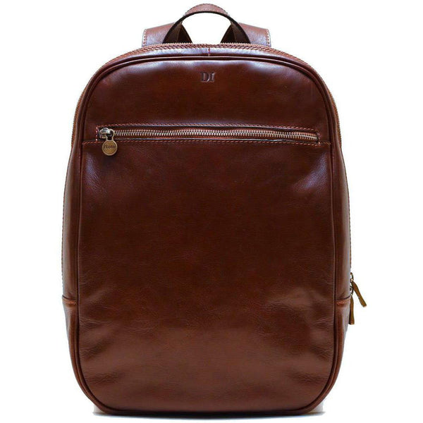 leather backpack floto monogram