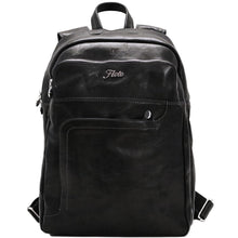 Load image into Gallery viewer, Leather Backpack Floto Black monogram