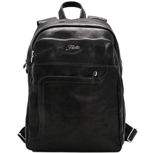 Leather Backpack Floto Black monogram