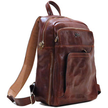 Load image into Gallery viewer, Leather Backpack Floto Brown 2