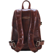 Load image into Gallery viewer, Leather Backpack Floto Brown 3