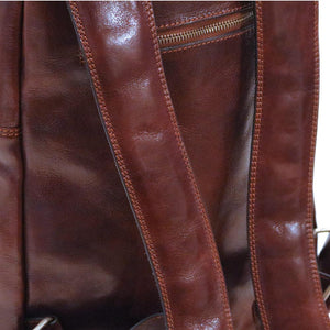 Leather Backpack Floto Brown 4