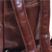 Load image into Gallery viewer, Leather Backpack Floto Brown 4