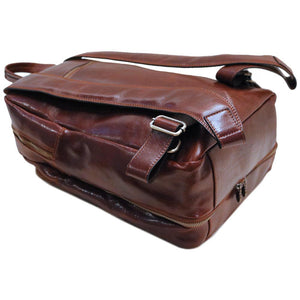 Leather Backpack Floto Brown 5