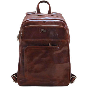 Leather Backpack Floto Brown monogram