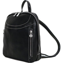 Load image into Gallery viewer, Floto Italian Leather Backpack Lampara satchel black