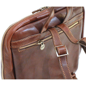 leather backpack floto lampara