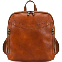 Load image into Gallery viewer, Floto Italian Leather Backpack Lampara satchel olive brown
