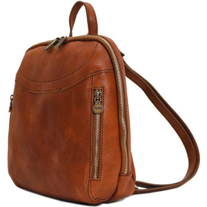 Floto Italian Leather Backpack Lampara satchel olive brown