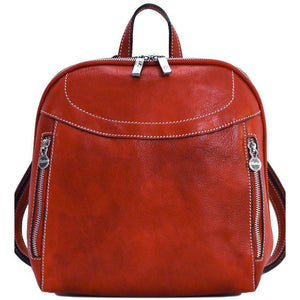 Floto Italian Leather Backpack Lampara satchel red