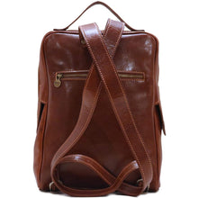 Load image into Gallery viewer, Leather backpack Floto Milano monogram
