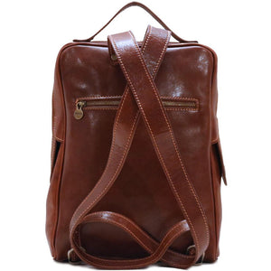 leather backpack floto milano brown