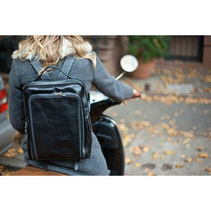 leather backpack floto milano