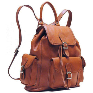 Leather backpack floto toscana brown 2
