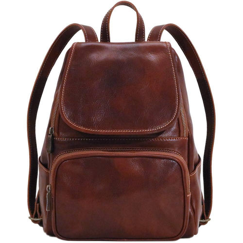 leather backpack floto livorno